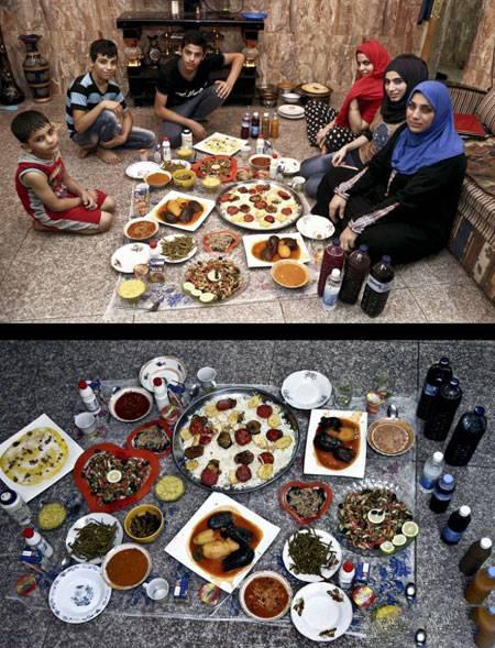 های افطاری 1 - تنوع سفره های افطاری مسلمانان سراسر جهان