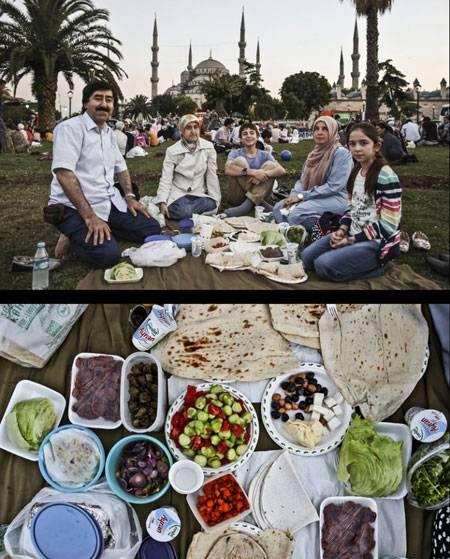 های افطاری 5 - تنوع سفره های افطاری مسلمانان سراسر جهان