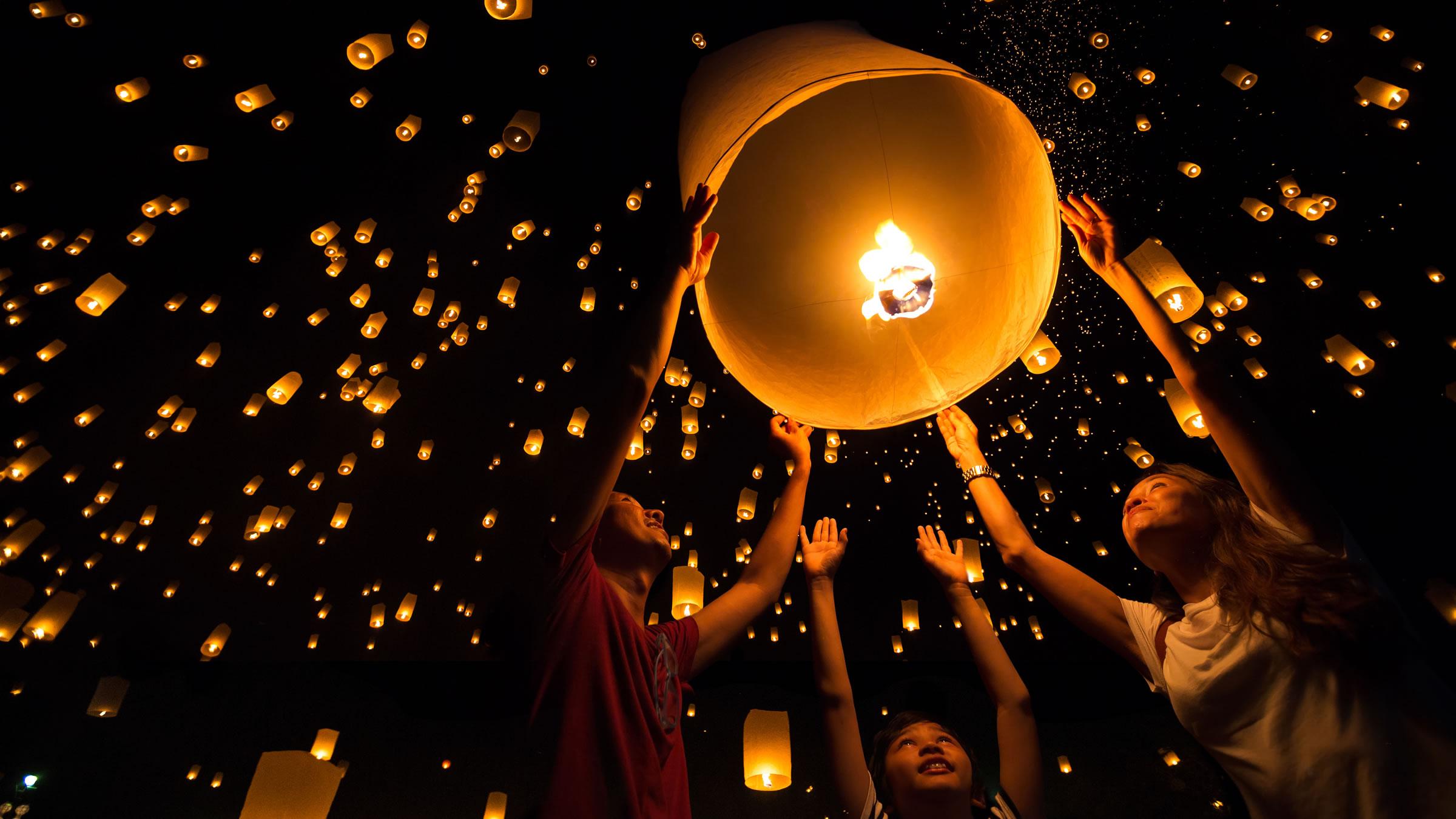 Globos de papel de seda en China y Taiwán - آشنایی با جشن های بین المللی دنیا