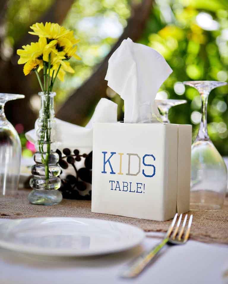 برای کودکان - رازهایی برای برگزاری یک جشن عروسی بامزه