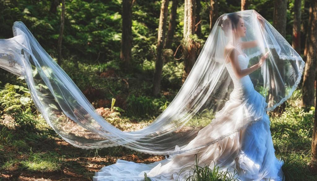 bride dress forest devushka 1024x585 - راهنمای انتخاب یک لباس عروس مناسب