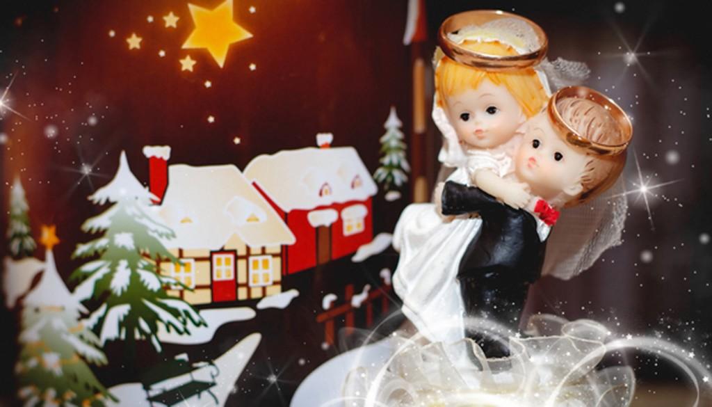 svadba kolca nevesta zima 1024x585 - ۸ دلیل برای برگزاری جشن عروسی در فصل زمستان