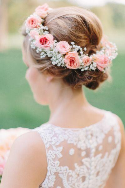 گل سر عروس 7 - مدل های گل سر عروس با گلهای طبیعی برای عروس خانمهای ایرانی
