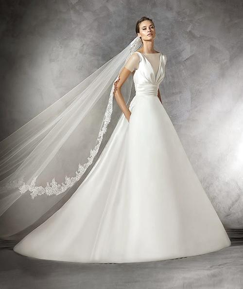 لباس عروس یقه هفت - خرید لباس عروس یا اجاره لباس عروس