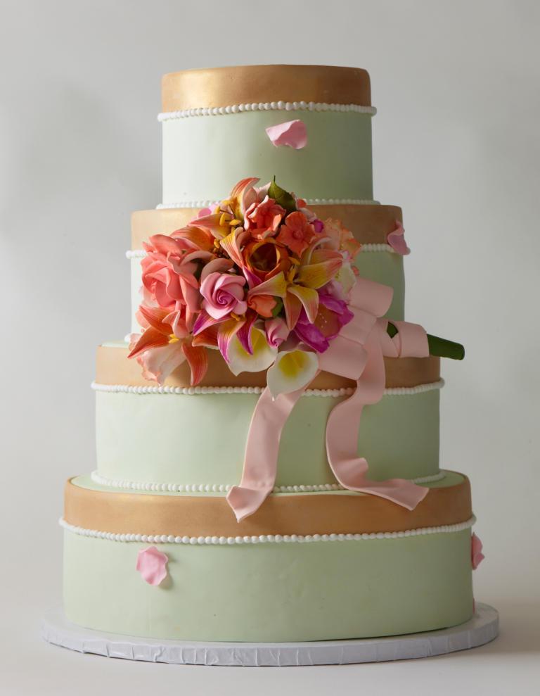 کیک عروسی 6 - زیباترین کیک عروسی که می توانید برای جشن های خود انتخاب کنید