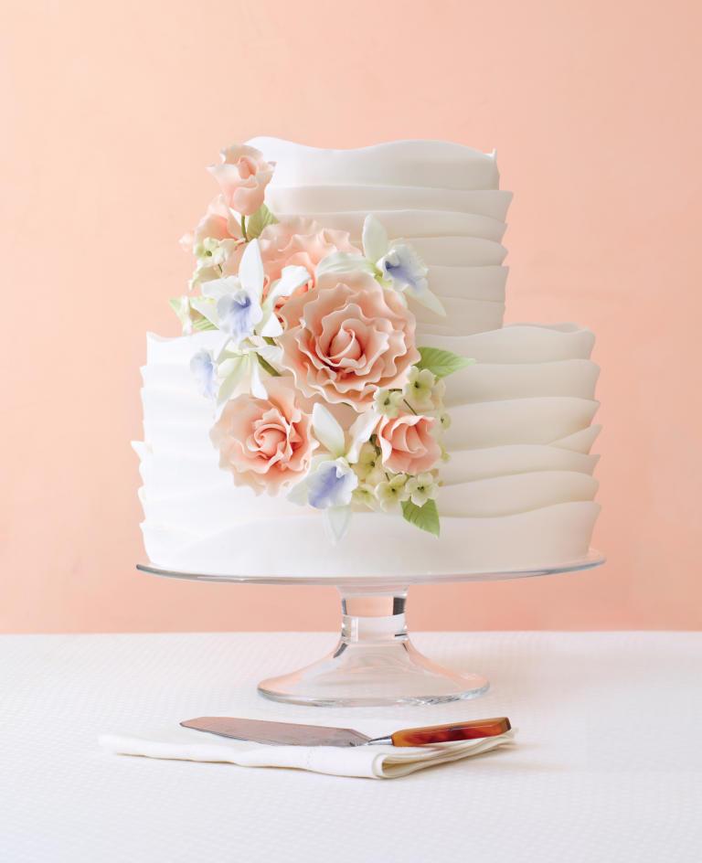 کیک عروسی1 - زیباترین کیک عروسی که می توانید برای جشن های خود انتخاب کنید