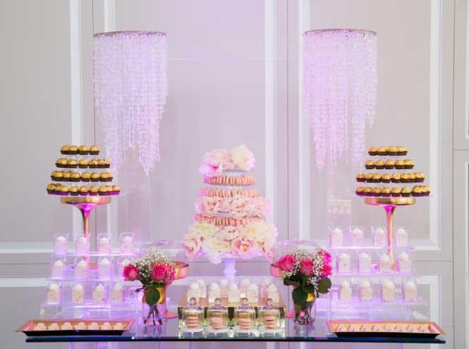 دسر عروسی 1 - چینش زیبای میز دسر عروسی برای عروس خانم های ایرانی