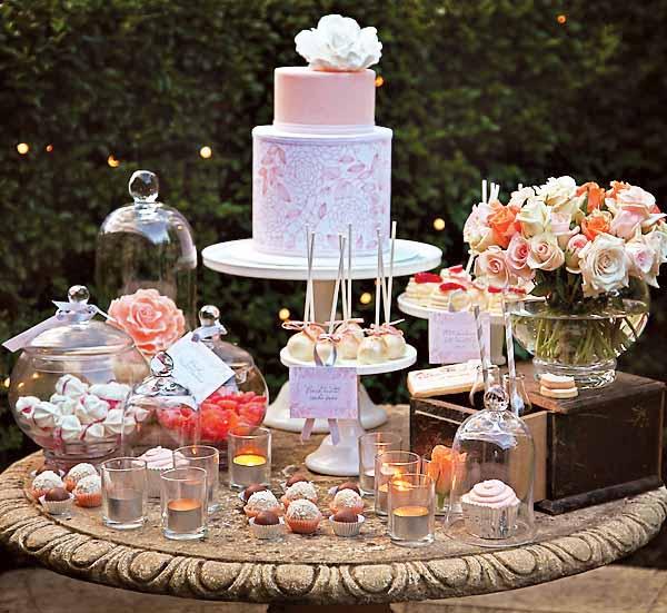 دسر عروسی 13 - چینش زیبای میز دسر عروسی برای عروس خانم های ایرانی