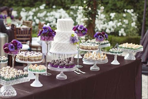 دسر عروسی 3 - چینش زیبای میز دسر عروسی برای عروس خانم های ایرانی
