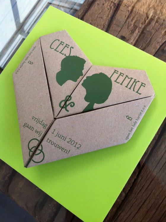 دعوت عروسی اوریگامی - کارت عروسی های خاص و خلاقانه که تا به حال به آنها فکر نکردهاید