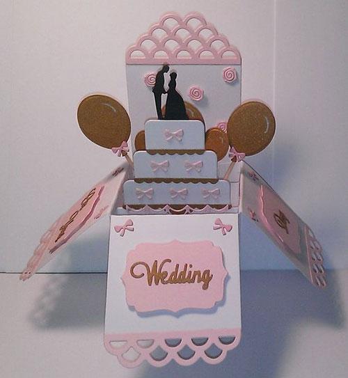 عروسی خاص سه بعدی ۱ 1 - کارت عروسی های خاص و خلاقانه که تا به حال به آنها فکر نکردهاید