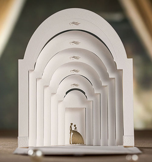 عروسی خاص سه بعدی ۲ 1 - کارت عروسی های خاص و خلاقانه که تا به حال به آنها فکر نکردهاید