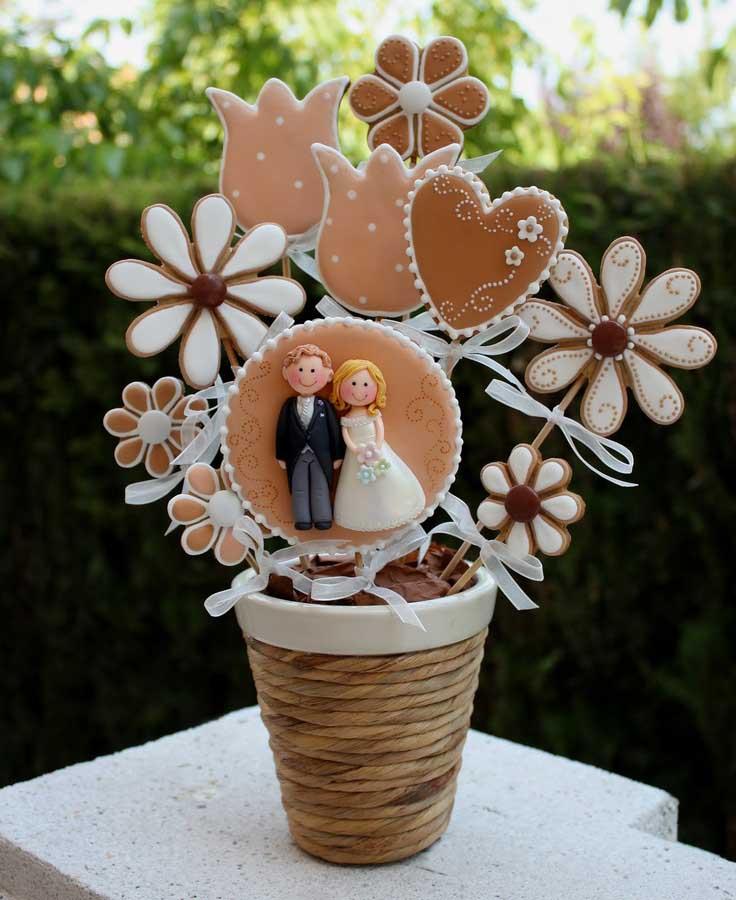عروسی 17 - چند مدل کوکی عروسی زیبا که به عنوان شیرینی عروسی سرو میشوند
