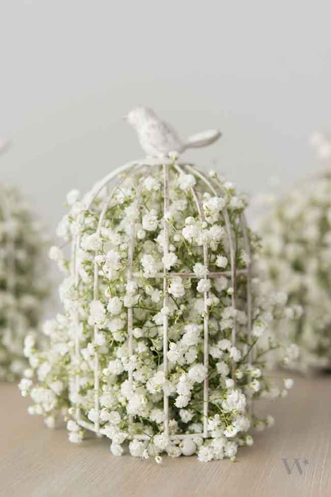 DIY spring birds anf blooms wedding centerpieces - ۲۳ ایدهی جالب برای گل آرایی مراسم عروسی