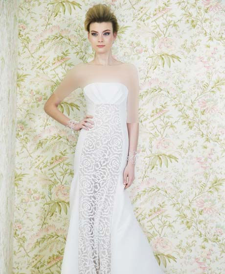 angel sanchez wedding dresses spring 2015 008 - چگونه لباس عروس مناسب بدن خود را پیدا کنیم؟