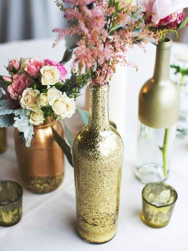 chic rustic outdoor wedding centerpiece idea for spring - ۲۳ ایدهی جالب برای گل آرایی مراسم عروسی