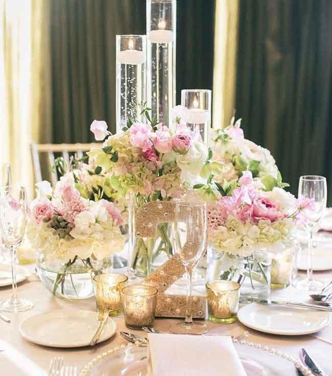 pretty spring wedding flower ideas wedding centerpieces - ۲۳ ایدهی جالب برای گل آرایی مراسم عروسی