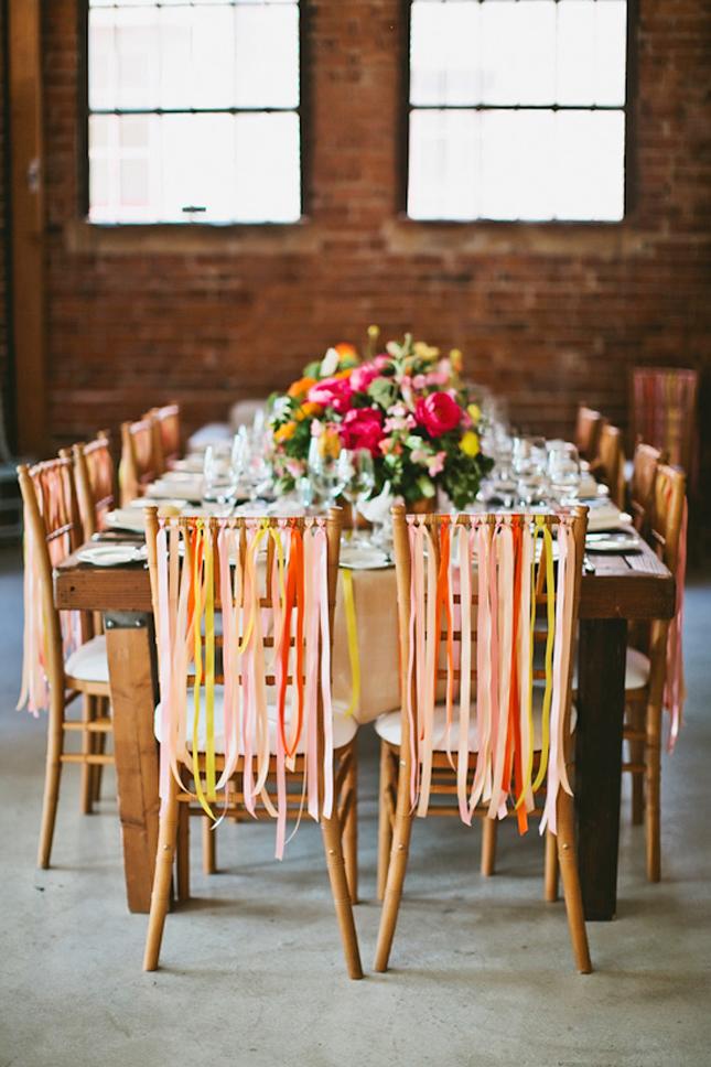 somewhere splendid ribbon chairs1 - مدل های جدید تزیین جایگاه عروس و داماد