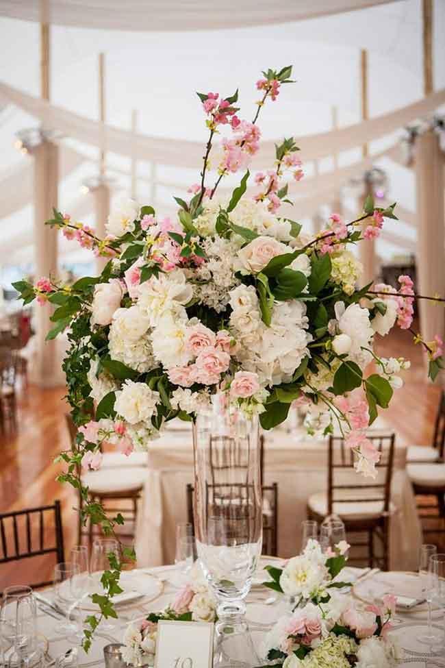 spectacular spring wedding centerpiece decor ideas - ۲۳ ایدهی جالب برای گل آرایی مراسم عروسی