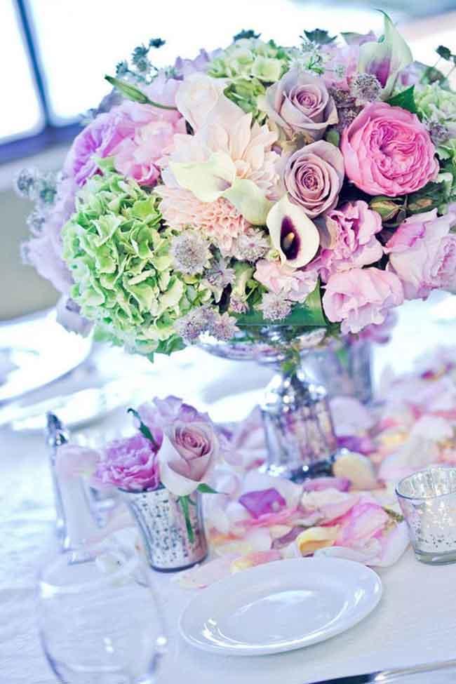 stunning spring wedding centerpiece ideas - ۲۳ ایدهی جالب برای گل آرایی مراسم عروسی