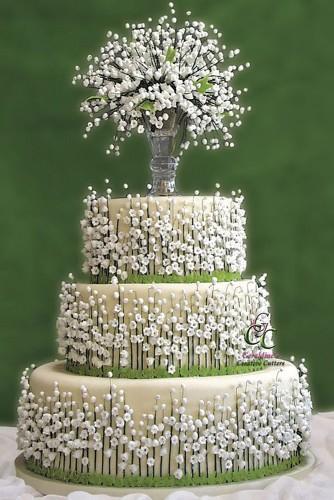 wedding cakes pictures joe and kathrina 334x500 - ۱۱ مدل تزیین کیک عروس متفاوت و جذاب