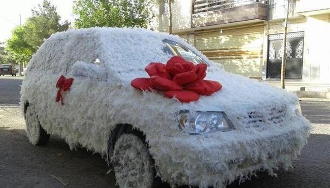 5 - تزیین ماشین عروس یا گل آرایی ماشین عروس