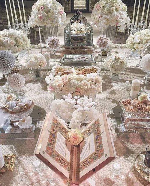 عقد5 - اجاره سفره عقد عروس با تزیین و گل آرایی جایگاه عروس