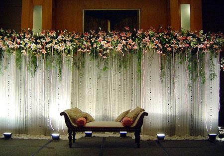 4 - تزیین جشن و گل آرایی عروسی مهمترین موضوع در برگزاری مراسم عروسی