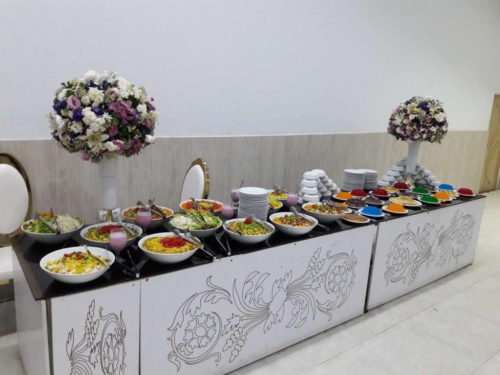 6 - نکات مهم برای غذای شام عروسی و تزیین میز شام عروسی