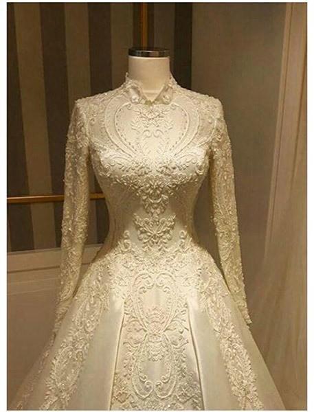 پوشیده4 - مدل لباس عروس پوشیده انتخابی خاص برای عروس خانم ها