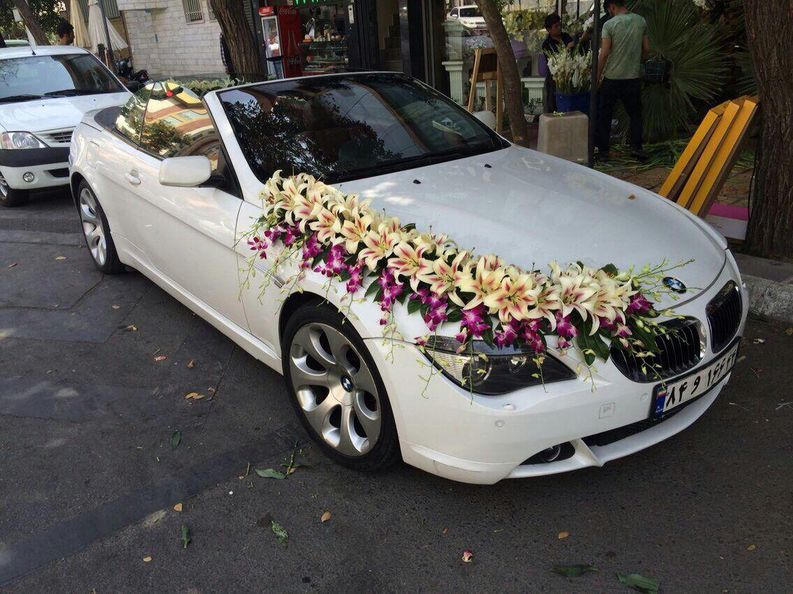 عروس 1 - اجاره ماشین عروس و تزیین ماشین عروس