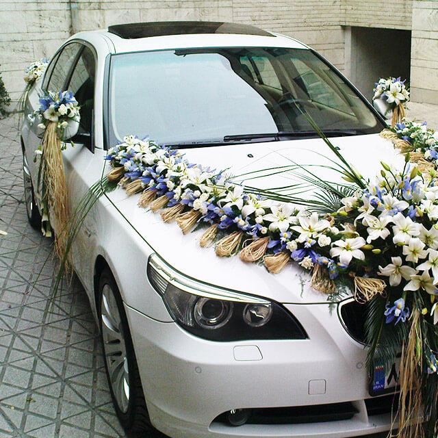 1 - اجاره ماشین عروس و تزیین ماشین عروس