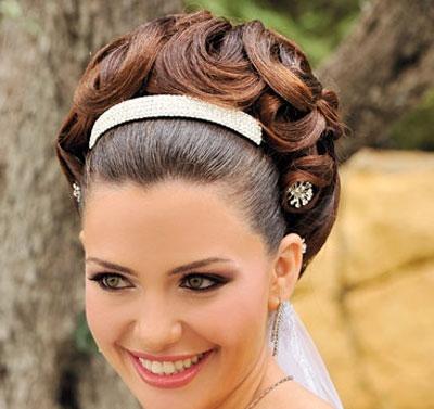 مو4 - مدل مو عروس ساده و زیبا با توجه به جدیدترین مدل آرایش مو و صورت عروس