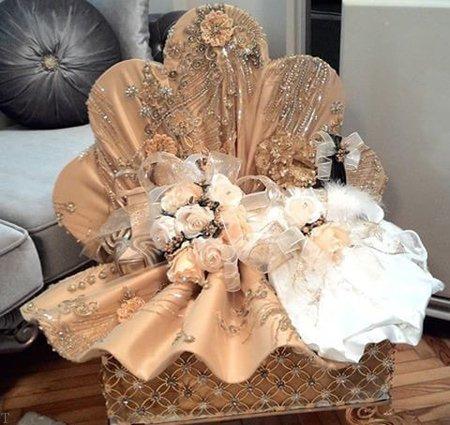 2 - مدل تزیین چادر عروس با روش های مختلف