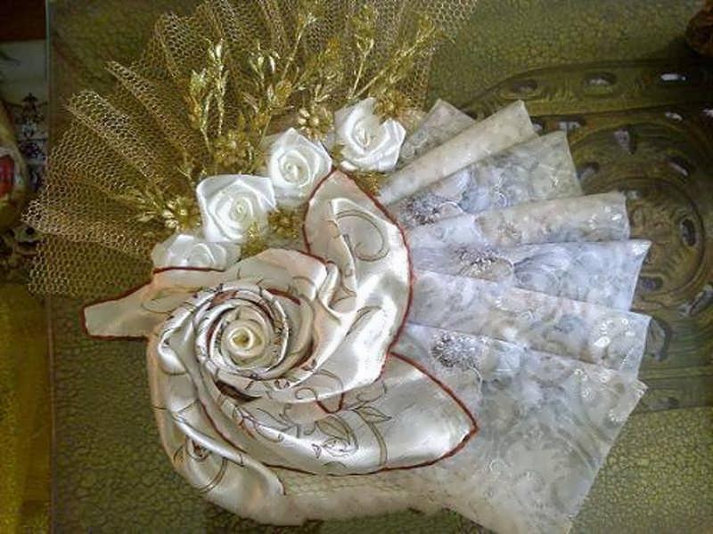 4 - مدل تزیین چادر عروس با روش های مختلف