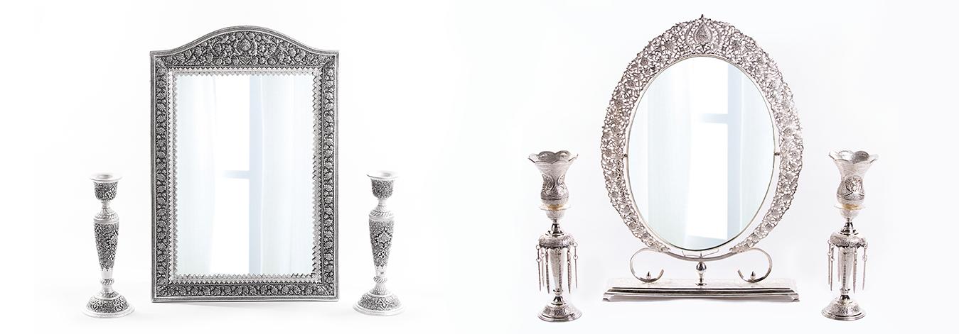 3 - انتخاب آینه و شمعدان مناسب