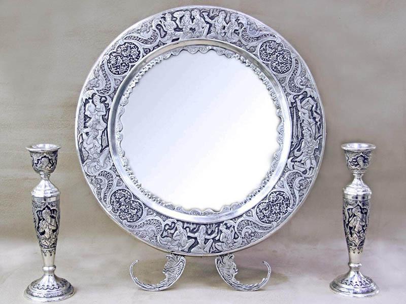 6 - انتخاب آینه و شمعدان مناسب