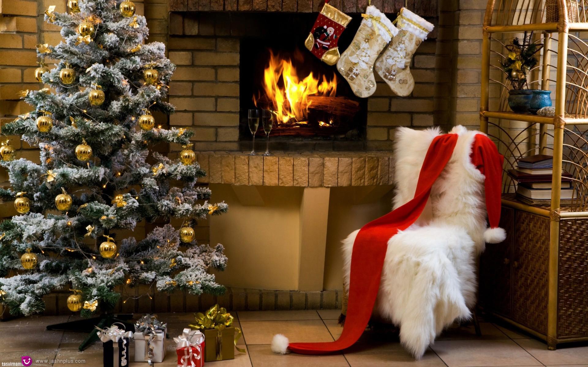 پس زمینه کریسمس 19 - کریسمس و یک میهمانی دور همی در روزهای سرد سال