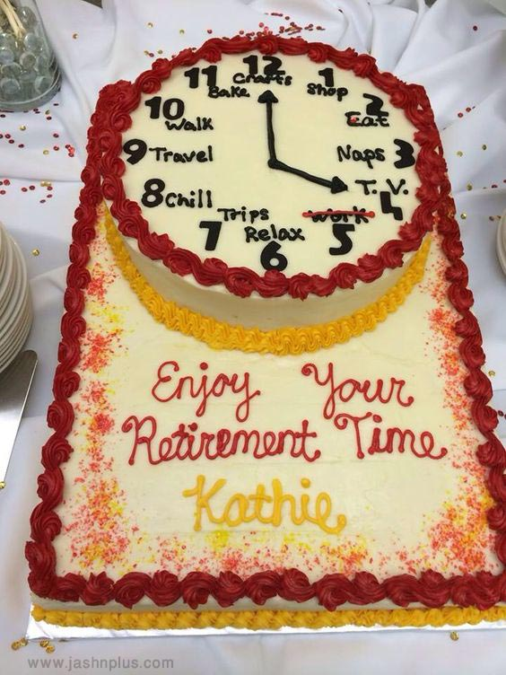 جشن بازنشستگی 1 - کیک های باحال جشن بازنشستگی