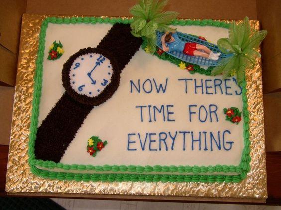 جشن بازنشستگی 10 - کیک های باحال جشن بازنشستگی