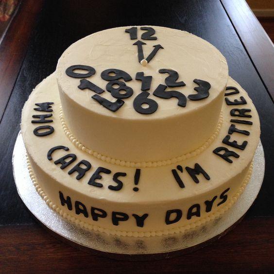 جشن بازنشستگی 11 - کیک های باحال جشن بازنشستگی