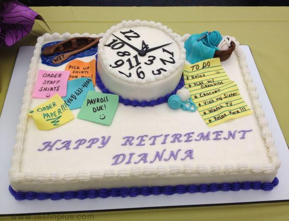 جشن بازنشستگی 7 - کیک های باحال جشن بازنشستگی