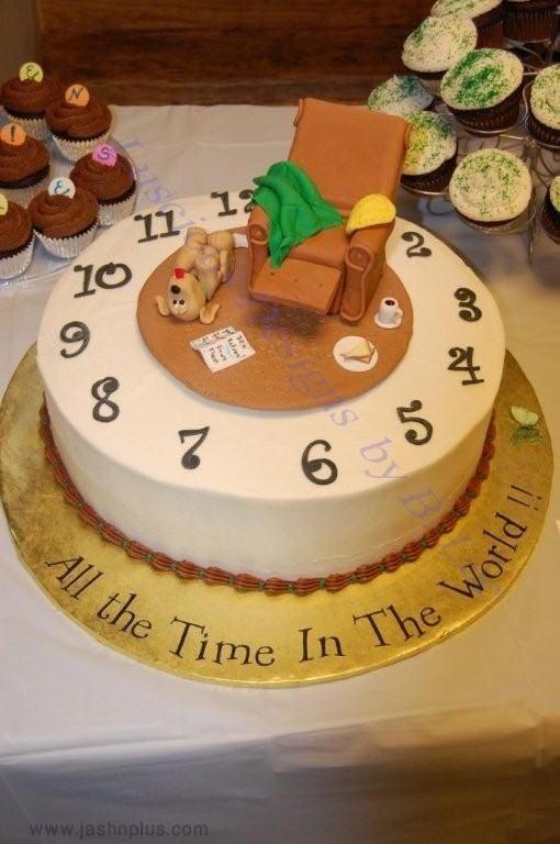 جشن بازنشستگی 8 - کیک های باحال جشن بازنشستگی