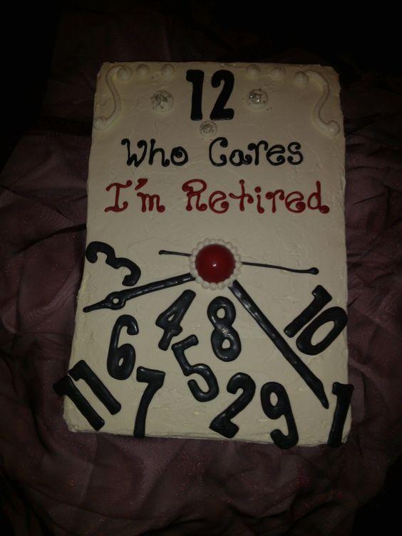 جشن بازنشستگی 9 - کیک های باحال جشن بازنشستگی
