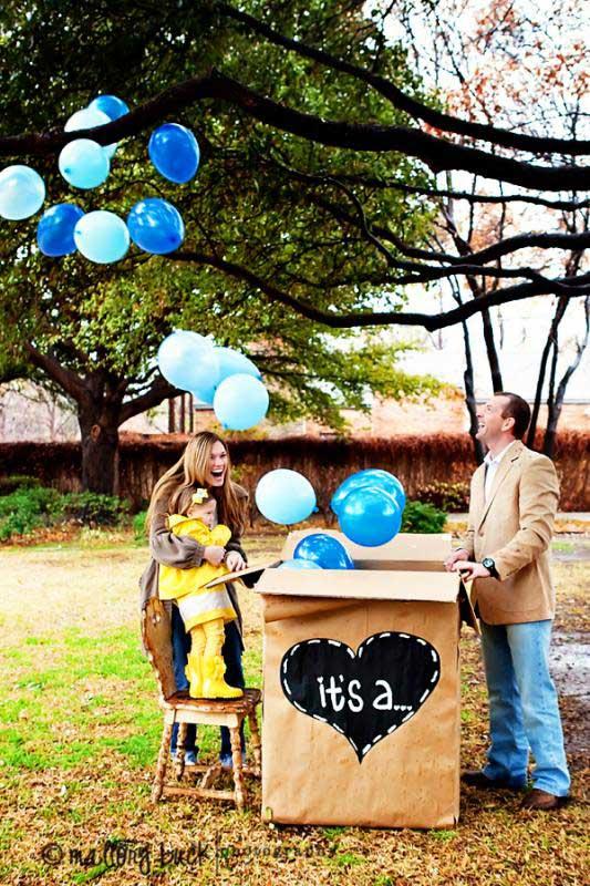 1 2 - سورپرایز بادکنکی برای جشن تعیین جنسیت نوزاد