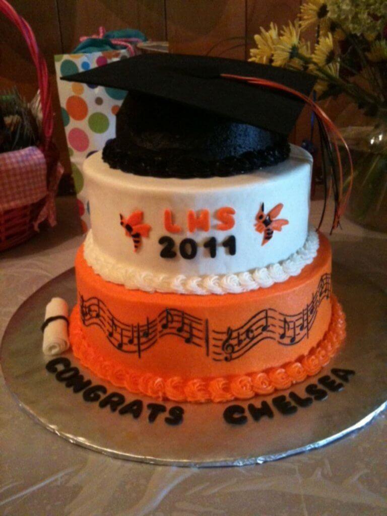 24 graduation cake ideas 768x1024 1 - 10 ایده کیک جشن فارغ اتحصیلی