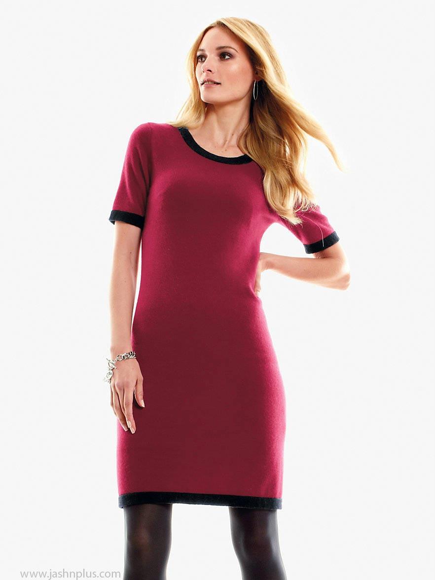 3. cashmere knitted dress burgundy black 127738 CAT M 310713 143502 - آداب میزبانی و میهمانی در بلندترین شب سال(یلدا)