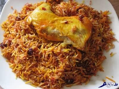 Cherry rice with chicken 1 1 - طرز تهیه آلبالو پلو با مرغ لذیذ و خوش طعم