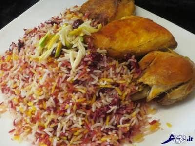 Cherry rice with chicken 2 - طرز تهیه آلبالو پلو با مرغ لذیذ و خوش طعم
