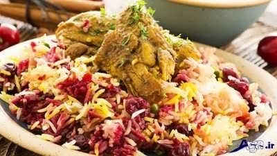 Cherry rice with chicken 5 1 - طرز تهیه آلبالو پلو با مرغ لذیذ و خوش طعم